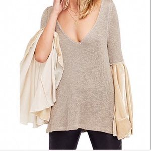 New Free People Celestial Bell Sleeve Sweater
